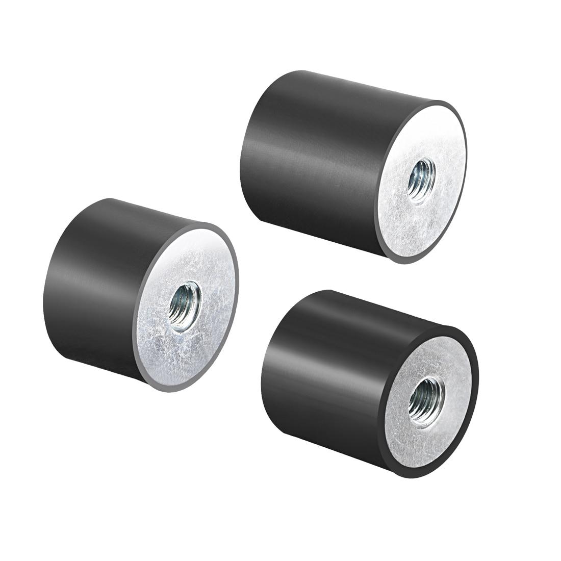 Uxcell M6 M8 M10 Female Thread Rubber Mounts Vibration Isolator Replaces Anti Vibration Pads Flat Silentblock Base Block