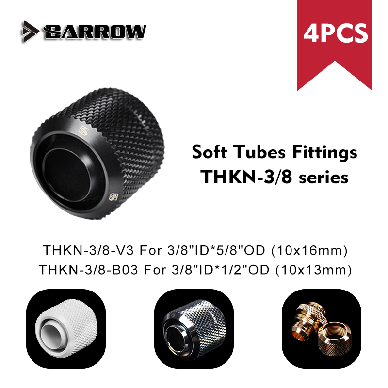 """Adapter Soft Tube Fitting Barrow 3/8""""Id 10x13mm 10x16mm 1/2""""Od 5/8""""Od G1/4"""" Computer Case Water Cooling Fitting"""