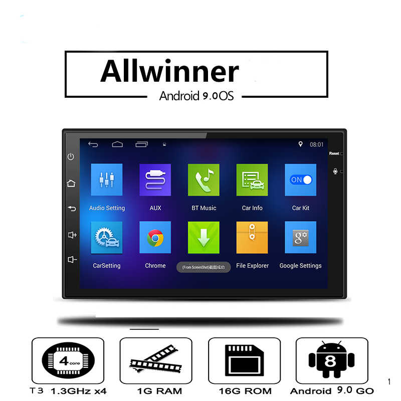 Lson 2 DIN Mobil Multimedia Player untuk Volkswagen Nissan Hyundai Kia Toyata Android GPS Auto Stereo Video DVD Player
