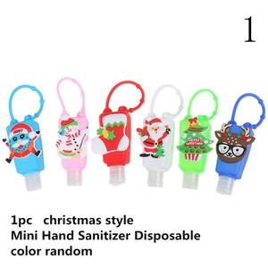Image 4 - Portable cute cartoon Silicone Owl/Panda/Santa Claus Mini Hand Sanitizer Disposable No Clean Detachable Cover christmas gift