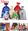 Cabilock 30PCS Christmas Gift Bags Christmas Gift Wrapping Goodie Bags Gift Pouches Plastic Candy Bags For Xmas Party Wedding