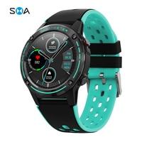 Smawatch M6C Gps Sport Smart Horloge Fitness Tracker Hartslagmeter Smartwatch Voor Android Ios Telefoon