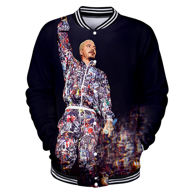 J BALVIN THEMED 3D BASEBALL JACKET (10 VARIAN)
