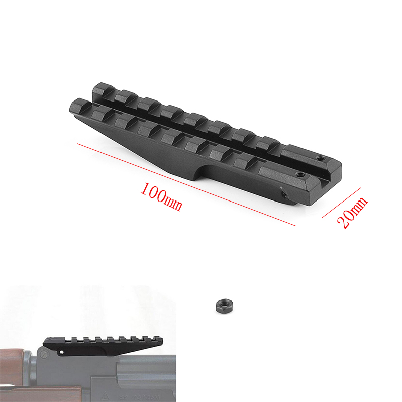 Tactical Picatinny Rear Weaver 20mm Rail <font><b>Mount</b></font> for AK Accessories Airsoft Electric Gun <font><b>AK47</b></font> AK74 Sight Rail Hunting <font><b>Scope</b></font> <font><b>Mount</b></font> image