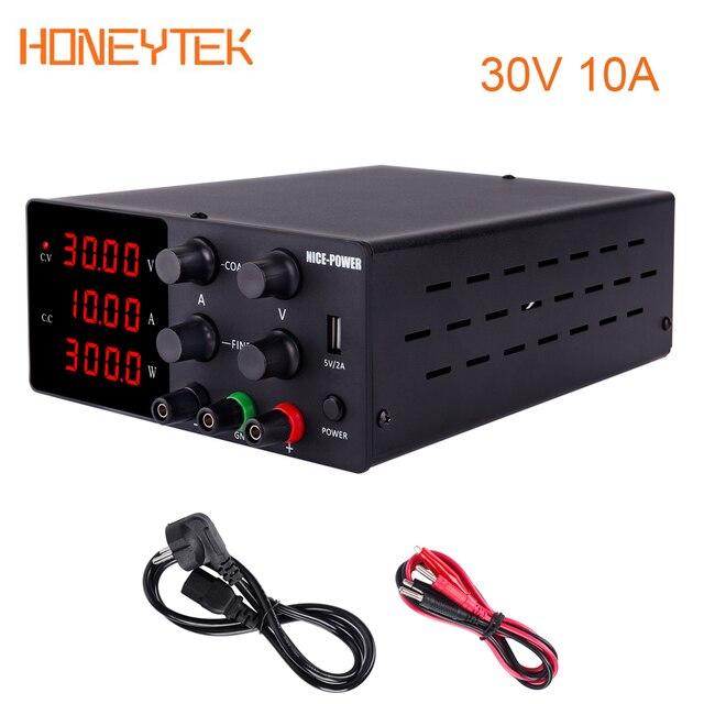 Hot Adjustable Power Supply 30V 10A Laboratory Power Supply DC Voltage Regulator 220V/110V Bench Source Digital Source 120V 3A