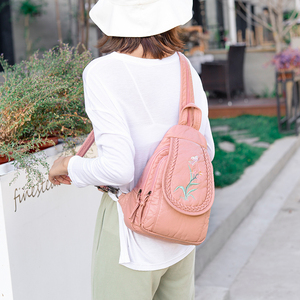Image 5 - 2019 Women Soft Leather Backpacks High Quality Sac A Dos Female Travel Shoulder Bag Ladies Bagpack School Bags For Girls New