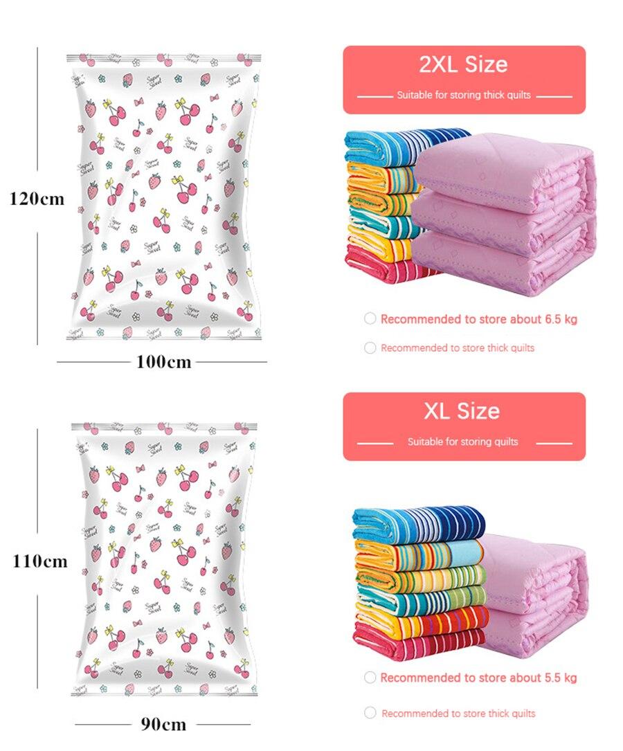 Вакуумный мешок для хранения дома Вишня печать складная Одежда Одеяло Органайзер уплотнение Сжатый для экономии места в путешествии сумки посылка