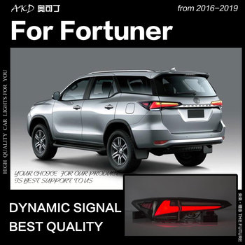 Car Styling for Toyota Fortuner Tail Lights 2016-2019 Dynamic Signal Tail Lamp LED Tail Light DRL Brake Reverse auto Accessories