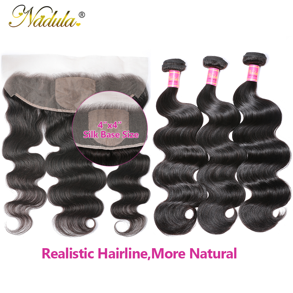 Nadula Hair  Body Wave Hair With 13x4 Lace Frontal Closure 3 Bundles With Frontal 100%  s  Hair 3