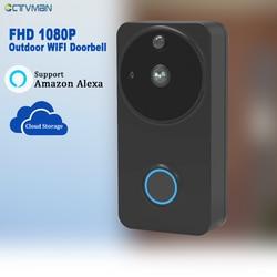 CTVMAN PIR Türsprechanlage Kamera Batterie Drahtlose Türklingel mit Kamera Wifi Tür Glocke Intercom HD 1080P Türen Sprechanlagen