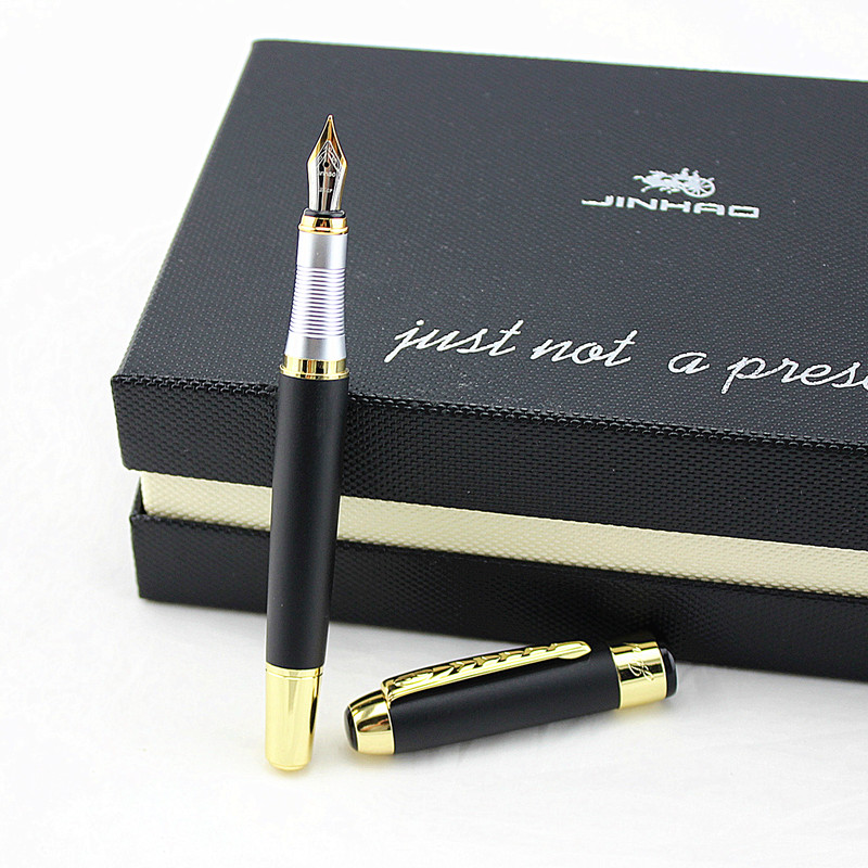 High Quality Jinhao X250 Luxury Vulpen Metal Noble Stainless Fountain Pen Ink Pen Nib Stationery Penna Stilografica 03830