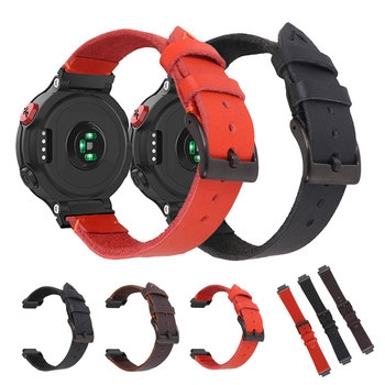 Replacement Strap Sports Watch Band For Garmin Forerunner 220 230 235 620 630 735 Belt PU Leather Bracelet Strap For Garmin