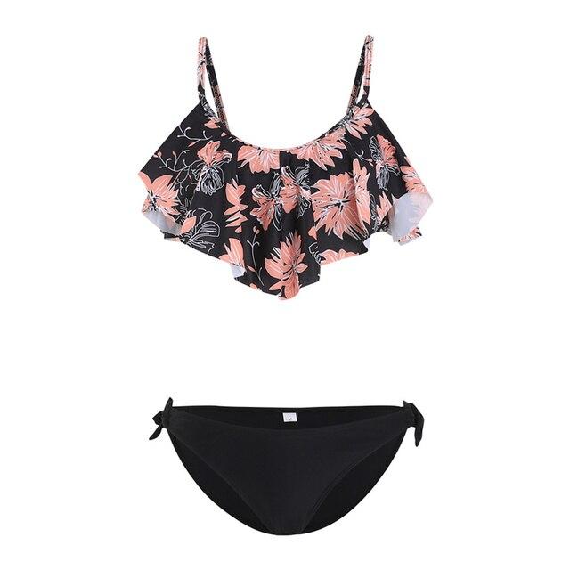 Tie Side Tropical Bikini