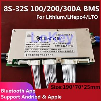 ANT BMS 8s - 32s Lifepo4 LTO-Placa de protección de batería inteligente, 96V, 72V, 100A, 200A, 320A, con Bluetooth y pantalla 1