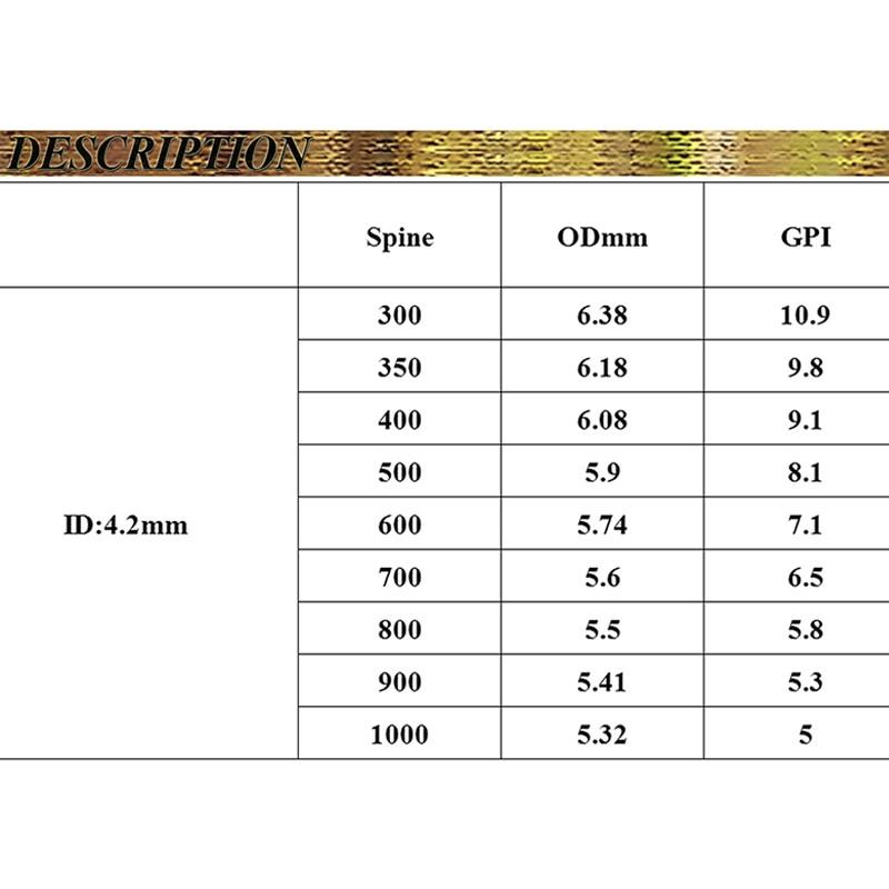 6 pcs flecha de carbono puro eixo 04