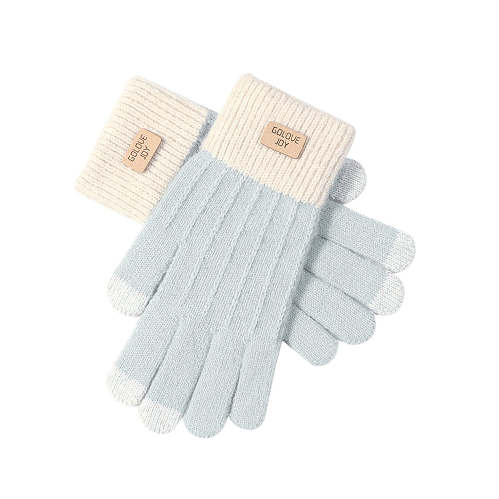 Casual Women Cute Play Mobile Phone Warm Gloves Soft Cotton Winter Gloves knitting protecting hands Simple Female Wrist Mittens