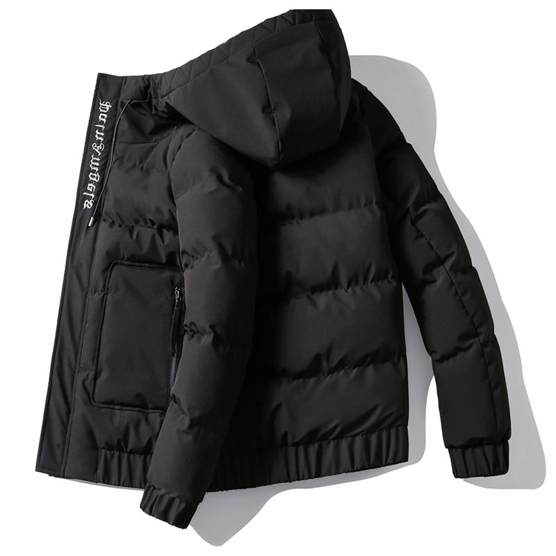 Chaqueta De Invierno Para Hombre Abrigo Con Capucha De Color