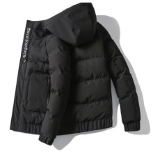 Winterjas Mannen Warme Dikke Mode Borduren Casual Effen Kleur Kapmantel Man Streetwear Wilde Losse Katoenen Parka Mannen M-4XL(China)