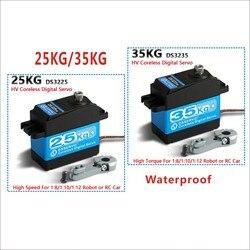 1X35 кг высокий крутящий момент без сердечника мотор сервопривод DS3135 металлический редуктор и DS3235 StainlessSG водонепроницаемый цифровой сервопр...