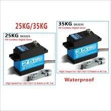 1X35kg /25 كجم عزم دوران عالية كوريليس موتور سيرفو DS3235 و DS3225 ستينليسغ مقاوم للماء أجهزة رقمية للروبوتية لتقوم بها بنفسك ، سيارة الصليب الأحمر