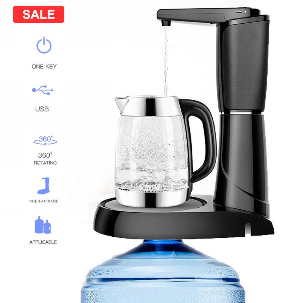 Electric Water Dispenser Air Otomatis Dispenser Botol Pompa Wireless USB Pengisian Portable Mini Dispenser Air untuk Rumah Tangga
