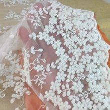 Tissu africain en dentelle de Tulle de coton pour robe, dentelles de Tulle de mariée, bricolage, couture de tissu Patchwork brodé