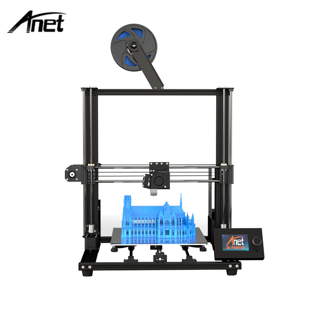 Anet A8 Plus 3D Printer Kit Self assembly 300 300 350mm Moveable LCD Control Panel Over