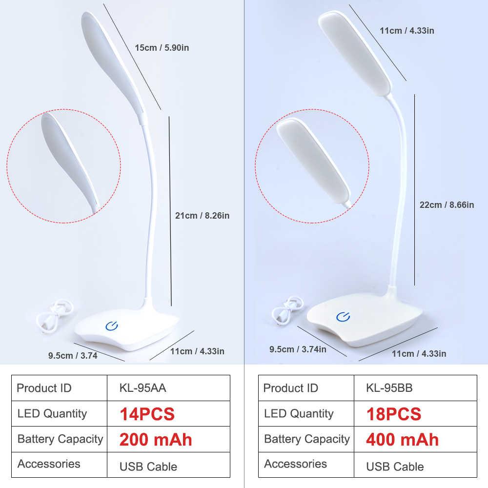 Suchme Akku LED Tisch Lampe Flexible Schwanenhals Eye-schutz Schreibtisch Lampe 3 Dimmer Lesen Lampe Nacht Lesen