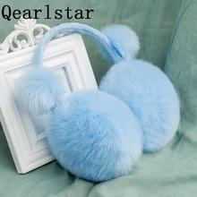 Qearlstar, зимние наушники для детей, имитация кроличьего меха, наушники для девочек и мальчиков, плюшевые наушники для детей и взрослых, теплые наушники DW25