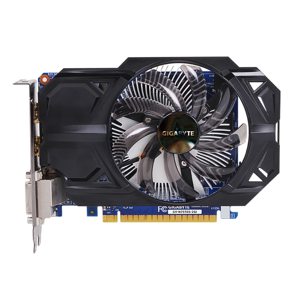 Used Gigabyte graphics card GV-N75TD5-2GI uses NVIDIA GeForce GTX 750 Ti display chip 2G display memory