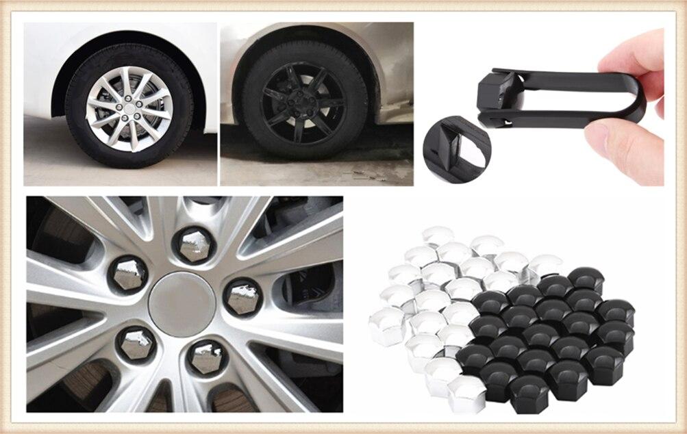 Toyota Aygo Chrome Wheel nut bolt Covers Caps 17 mm x 20