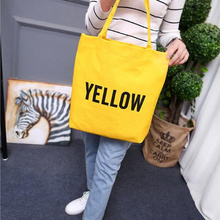 Tote Bag Women Canvas Tote Bag Fashion Shoulder Bag Concise Letter Printing Shoulder Cloth Bags Ladies Duty Cotton Shopping Bags letter print canvas tote bag