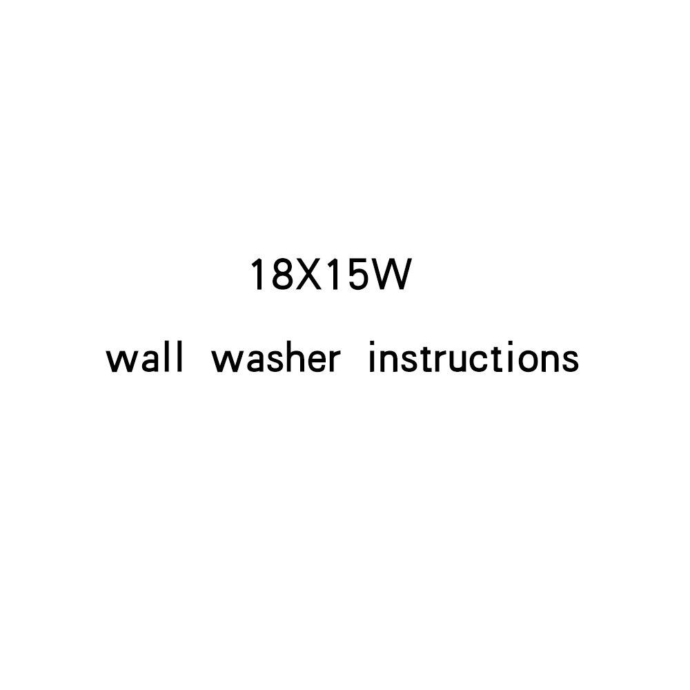 Instructions pour laveuse murale 18X15W