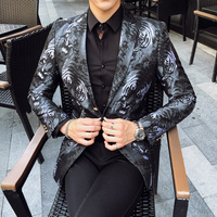 Tiger Print Blazer Männer Casual Slim Fit Anzug Jacke Mode-Business Kleid Mäntel Männer Blazer Hohe Qualität Terno Masculino M-5XL