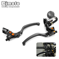 BJMOTO Pair 22mm 7/8Motorcycle Front Clutch and Brake Pump Levers For honda KTM BMW Kawasaki universal Street Dirt Sport bike