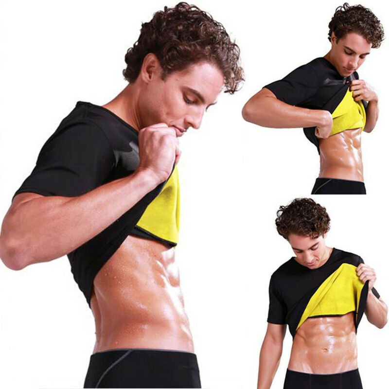 Men's Hot Sweat Body Shaper Slimming Belt Belly Men Slimming Vest Fat Burning Shapewear Waist Sweat Corset Tummy Fat Burner