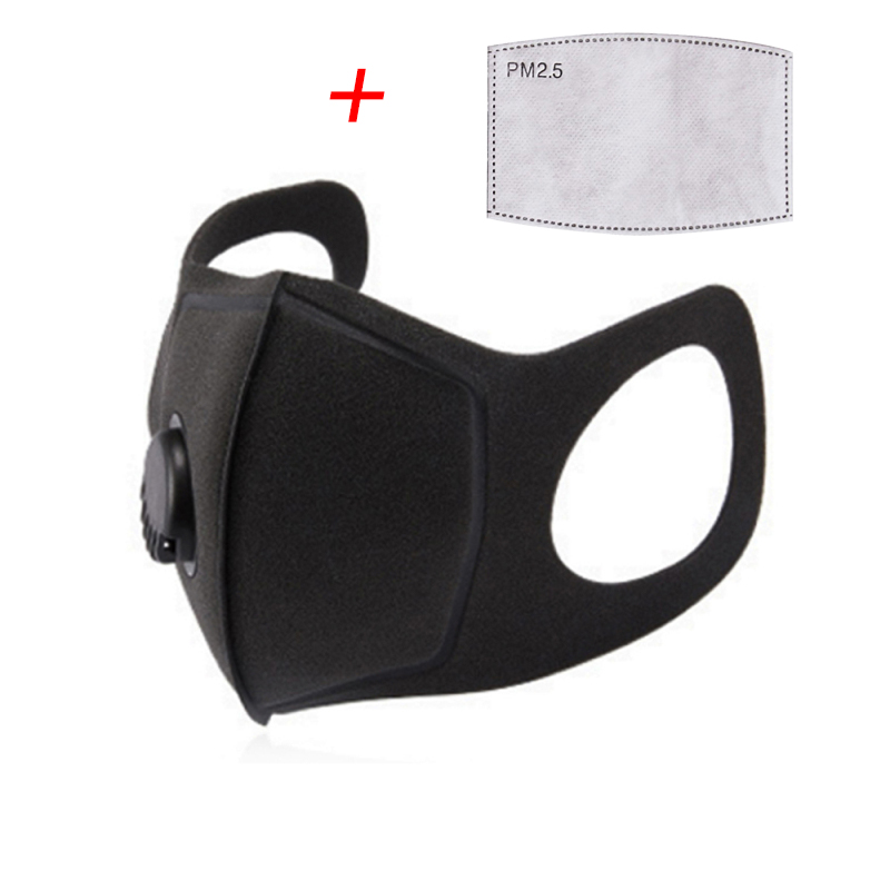 PM2.5 Air Valve Face Mask Non-woven Fabric Mouth Mask Dust Mask With Pm2.5 Filter Motorcycles Mask Air Purifying Mask Dust Haze