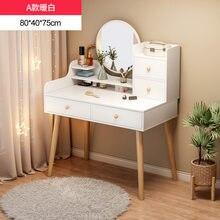80cm móveis quarto principal mesa de vestir multi-funcional pequena mesa de cosméticos moderno simples mesa de armazenamento nórdico