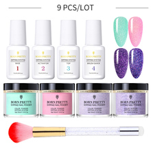 BORN PRETTY Nail Glitter Kit 9PCS Dipping Nail