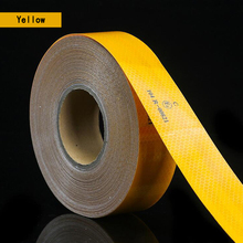 3M Reflective Tape Sticker Diamond Grade Adhesive Safety Mark Warning Tape Bike Automobiles Motorcycle Car Styling cheap NoEnName_Null CN(Origin) YS-003A PET Reflective Tape 5cmx3M Red white yellow red white Release paper Microprism type high reflectivity