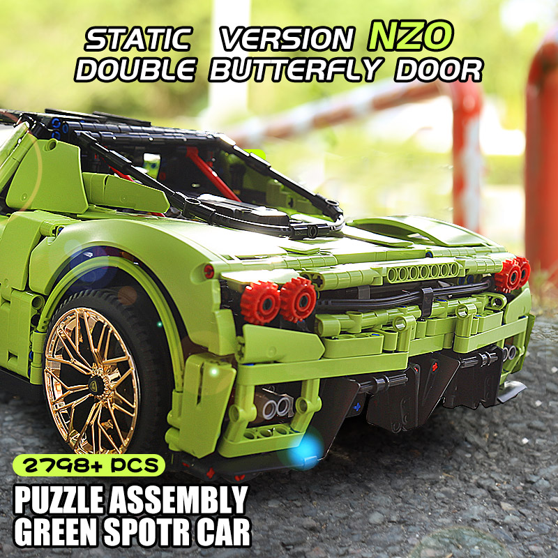 MOULD KING 13074 1:8 High-Tech Car Model The MOC-46921 Enzo – 42115 Car Model Building Blocks