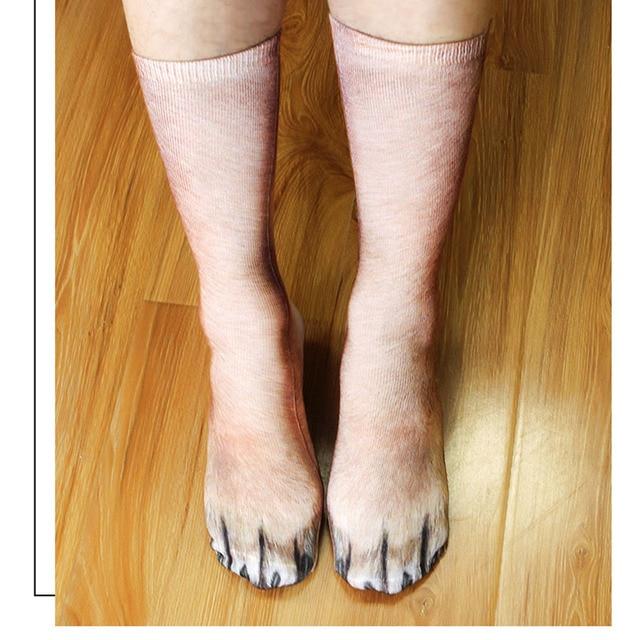 Интересные леопардовые тигровые хлопковые носки для женщин 4