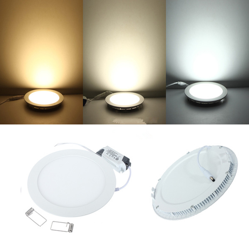 Dimmable Ultra Thin Ceiling Recessed <font><b>Downlight</b></font> 3w <font><b>4w</b></font> 6w 9w 12w 15w 25w Round <font><b>LED</b></font> Spot Light AC85-265V Down light image