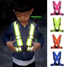 Детский светоотражающий жилет для ночной езды высокая видимость