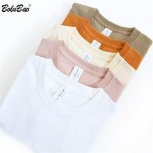 BOLUBAO hommes 100% coton T-Shirt été hommes col rond T-Shirt mince à manches courtes couleur unie T-Shirt style décontracté homme