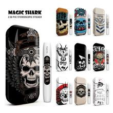 Magic Shark Skull 3M Printing Sticker For IQOS 2.4 Plus E Cigarette Accessories Protective Skin Case Cover 4006-4015 new magic shark genuine leather business case for iqos e cigarette shell protective case cover bag for iqos black brown