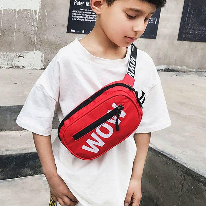Waterproof Child Waist Bag Boy Chest Bag Trend Belt Bags High Capacity Kidney Funny Bags Unisex Banana Bags Teens Crossbody Pack