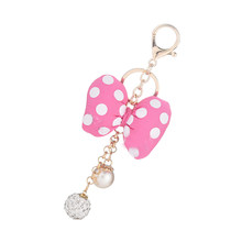 Creative Keychain with Bow Knot Key Chain Porte Clef for Women Bag Key Ring Holder Acessory Hanging Gift EH002