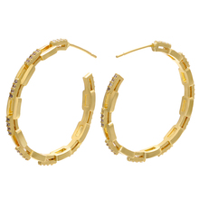 Circle Earring Jewelry Crystal-Loop ZHUKOU Gold/silver-Color Women for Popular CZ Model:Ve161