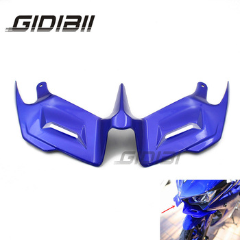 Motorcycle ABS Blue R3 R25 Front Fairing Aerodynamic Winglets For YAMAHA YZF-R3 YZF-R25 YZF R3 R25 Front Wing motorcycle accessories motorbike side mirrors blind spot rearview mirrors for yamaha yzf r3 r25 2015 2017 yzf r3 yzf r25